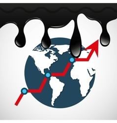 oil prices petroleum industry vector image