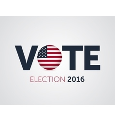 Patriotic 2016 voting poster Presidential vector