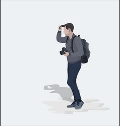 Photographer with a camera vector