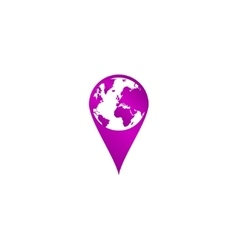 Pictograph globe map pointer vector