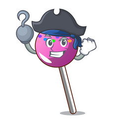Pirate lollipop with sprinkles character cartoon vector