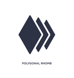 Polygonal rhomb icon on white background simple vector