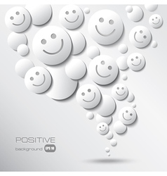 positive background vector image