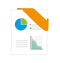 ppt format chart vector image