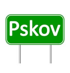 Pskov road sign vector