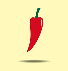 Red jalapeno vegetable vector