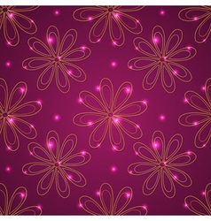 Red seamless ethnic pattern vector image