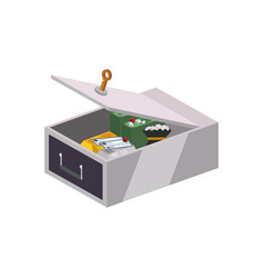 safe deposit strongbox key vector image