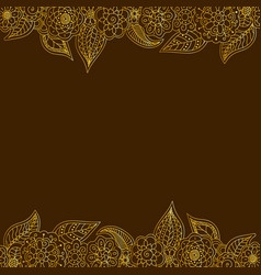 seamless decorative border of gold floral elements vector image