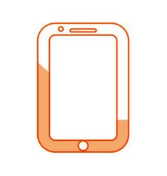 Silhouette nice smartphone symbol icon design vector
