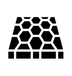 Sport ground floor layer glyph icon vector