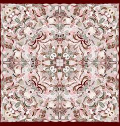 squared ornamental damask pattern vector image