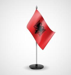 Table flag of Albania vector
