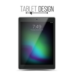 tablet mockup design black modern trendy vector image vector image