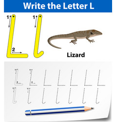Trace letter l vector