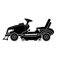 Tractor lawn mower icon simple style vector
