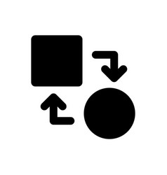 Transform icon vector