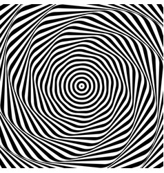 uncolored grayscale radiating shape with spirally vector image