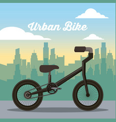 urban bike buildig city sport recreation vector image