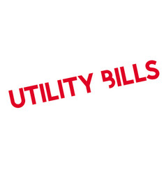 Utility bills rubber stamp vector