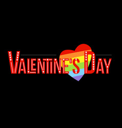 valentines day gay lettering conceptual poster vector image