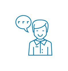 working as an announcer linear icon concept vector image