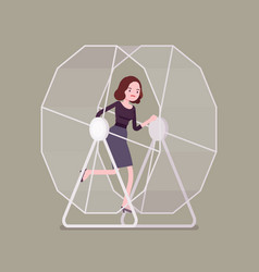 businesswoman in a wheel vector image