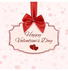 Happy Valentines day classic banner vector image