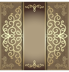 luxury background for the menu and invitation card vector image vector image