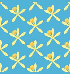 Vanilla flower pattern vector