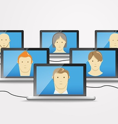 Modern computer network vector image