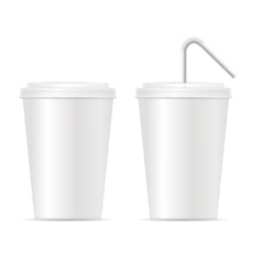 Paper Cup Template for Soda Set vector image