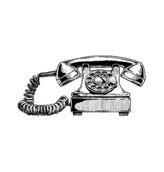 rotary dial telephone of 1940s vector image