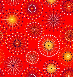 Seamless fireworks pattern vector image vector image