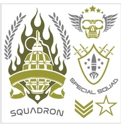 Special forces patch set vector image