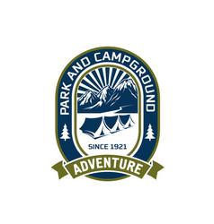 camping outdoor mountain adventure club vector image vector image