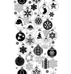 Seamless black-and-white pattern with christmas vector