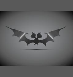 steel bat halloween logo vector image