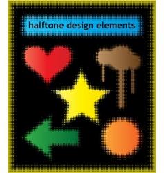 halftone design elements vector image vector image