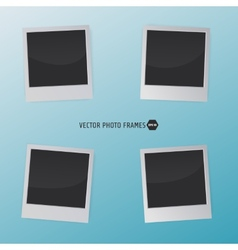 Retro Photo Frames on a blue background for your vector image vector image