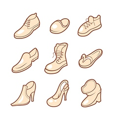 Shoe icons set vector image