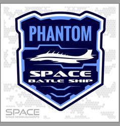 Space batlle ship military chevron vector