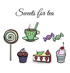 SweetsSet vector image