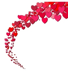 Valentines Day card with scattered hearts vector image