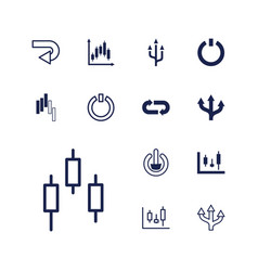 13 turn icons vector