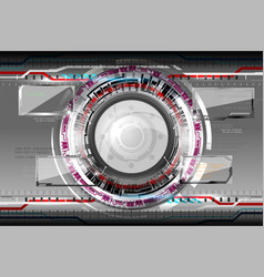 Abstract futuristic eyeball vector