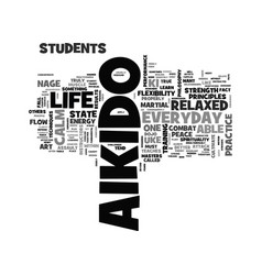 aikido everyday in life text word cloud concept vector image