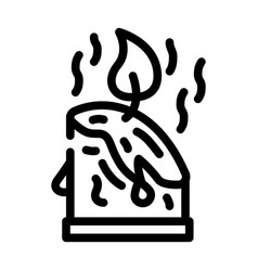 Aroma candles line icon line vector