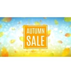 Autumn sale web banner vector
