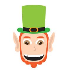 avatar of a happy irish elf vector image